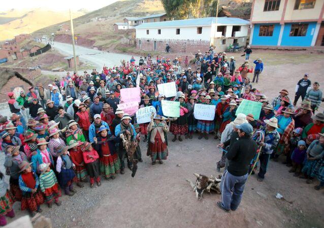 Manifestación en Apurímac
