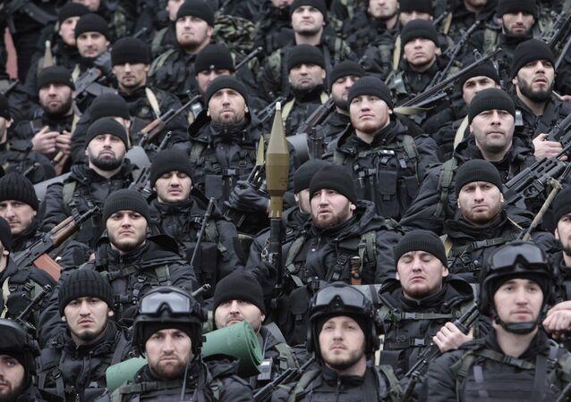 Soldados de las Fuerzas especiales chechenas (archivo)