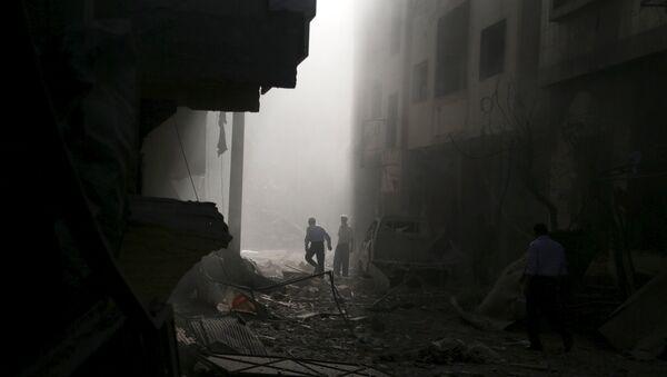 La localidad de Guta Oriental, suburbio dLa localidad de Guta Oriental, suburbio de Damasco (Archivo)e Damasco - Sputnik Mundo