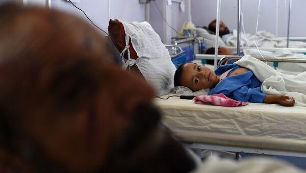 Niño afgano en el hospital de Médicos Sin Fronteras (archivo) - Sputnik Mundo