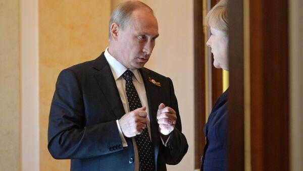 Совместная пресс-конференция президента РФ В.Путина и канцлера Германии А.Меркель - Sputnik Mundo