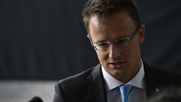 Péter Szijjártó, ministro de Exteriores de Hungría - Sputnik Mundo