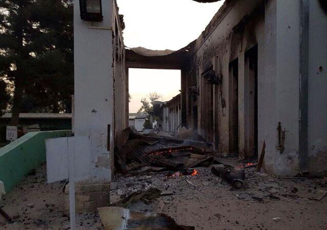 Hospital de Médicos sin Fronteras en Kunduz tras sufrir un bombardeo (Archivo)