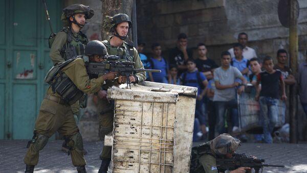 Soldados israelíes en Cisjordania (archivo) - Sputnik Mundo