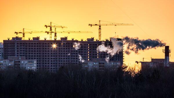 Casas en construcción en Moscú - Sputnik Mundo