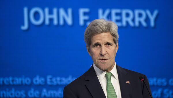 John Kerry, secretario de Estado de EEUU, durante la conferencia Nuestro océano en Chile - Sputnik Mundo