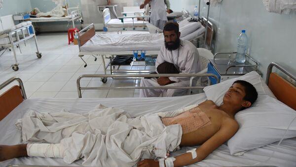 Niño afgano en el hospital de MSF - Sputnik Mundo