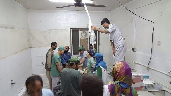 Hospital de Médicos Sin Fronteras después del ataque, el 3 de octubre, 2015 - Sputnik Mundo