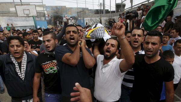 Funeral del niño palestino Abed al Rahman Obeidalah - Sputnik Mundo