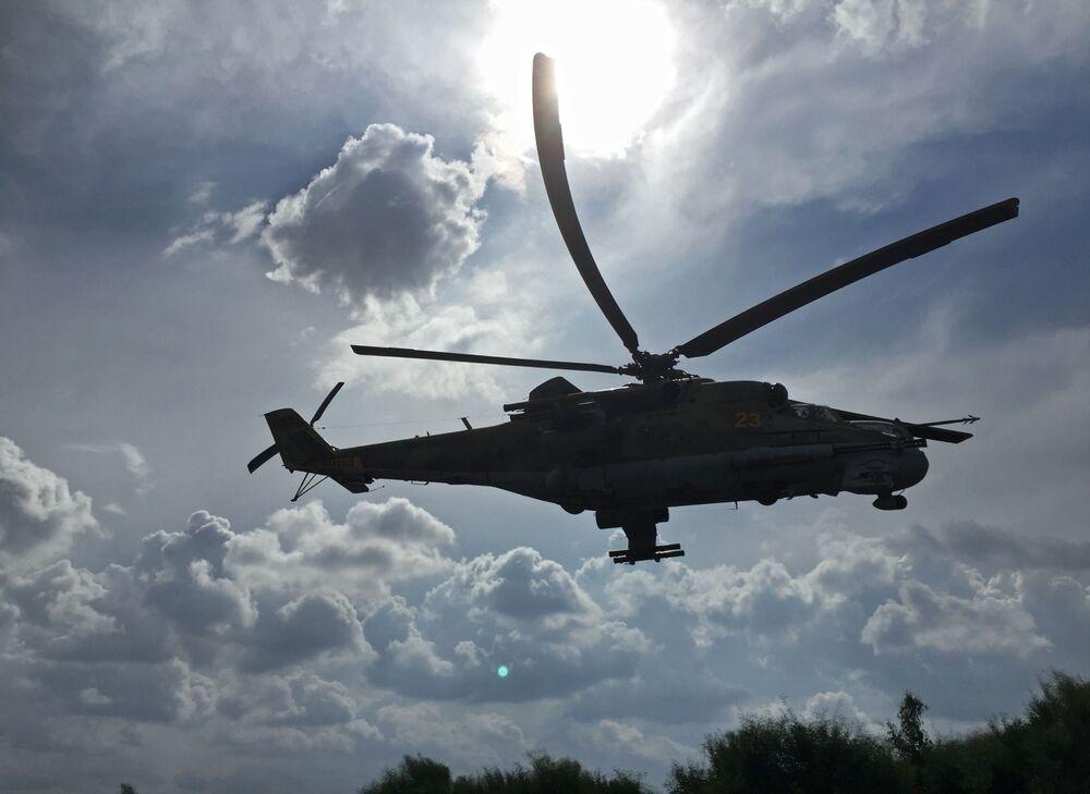 Helicópteros de ataque rusos contra el Estado Islámico