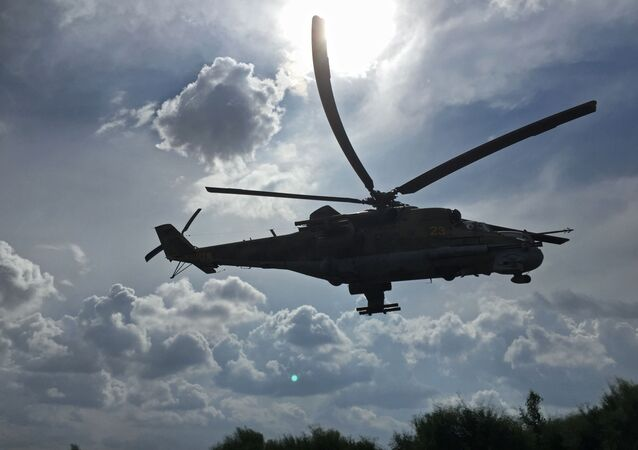 Helicóptero Mi-24 ruso en Siria (archivo)