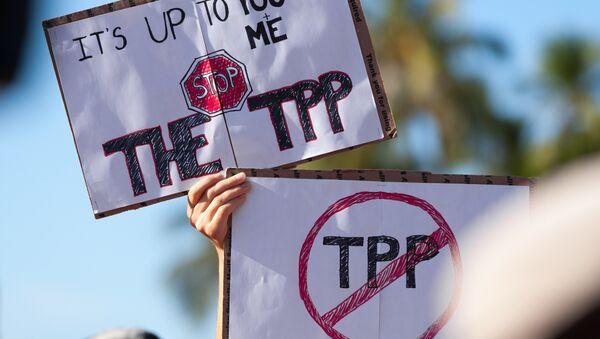 Protesta contra el TPP - Sputnik Mundo