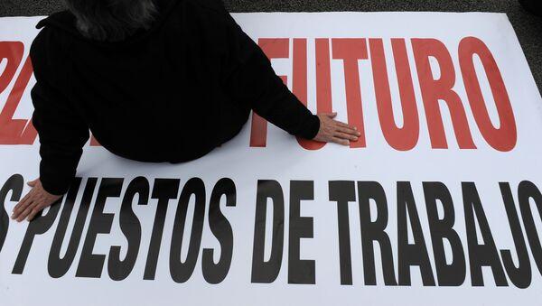 Protestas contra la realidad laboral en España - Sputnik Mundo
