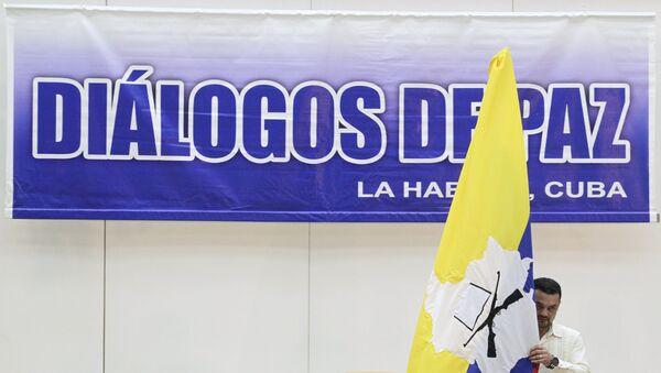 Logo de las negociaciones entre el gobierno de Colombia y las FARC en La Habana - Sputnik Mundo