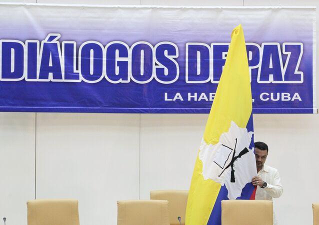 Logo de las negociaciones entre el gobierno de Colombia y las FARC
