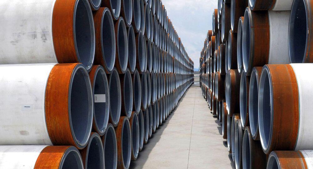 Tuberías para el gasoducto