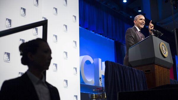 Presidente de EEUU, Barack Obama, durante la reunión anual del Instituto del Bloque Legislativo Hispano en Washington - Sputnik Mundo