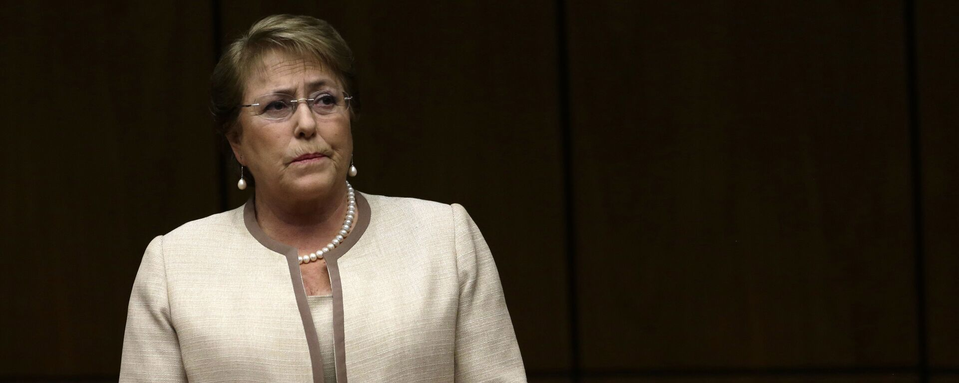 In this Aug. 21, 2015, file photo, Chile's President Michelle Bachelet attends a congressional session, during her official visit, in Asuncion, Paraguay - Sputnik Mundo, 1920, 10.05.2021