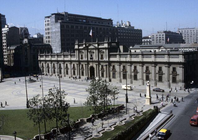 Palacio de La Moneda en Santiago de Chile
