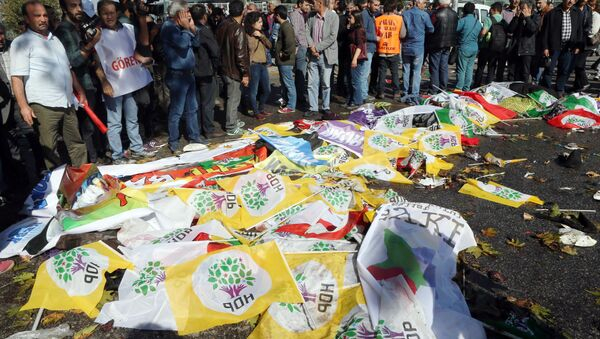 Lugar del atentado en Ankara - Sputnik Mundo