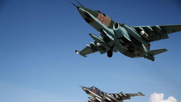 Aviones rusos Su-25 en Siria - Sputnik Mundo