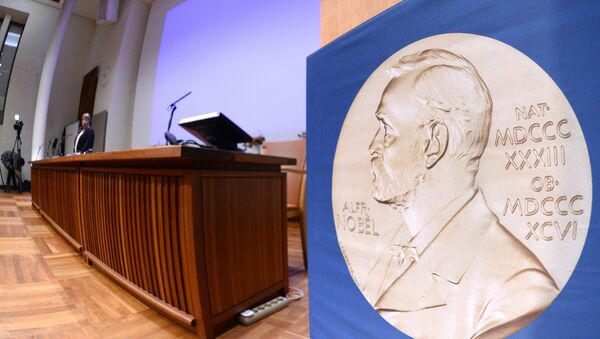 The laureate medal featuring the portrait of Alfred Nobel - Sputnik Mundo