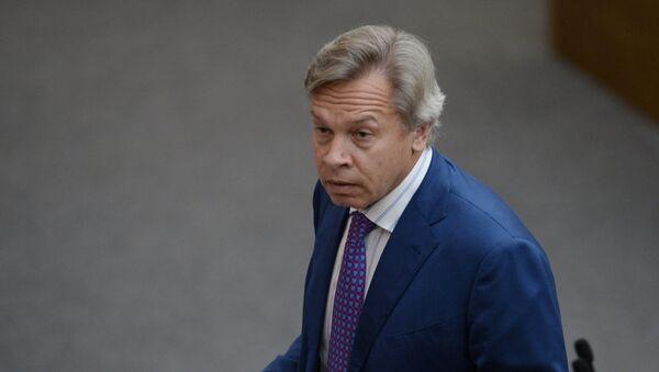 Alexéi Pushkov, jefe del comité para asuntos internacionales de la Duma de Estado - Sputnik Mundo