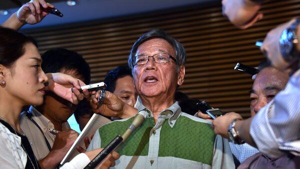 Takeshi Onaga, gobernador de la prefectura de Okinawa (archivo) - Sputnik Mundo