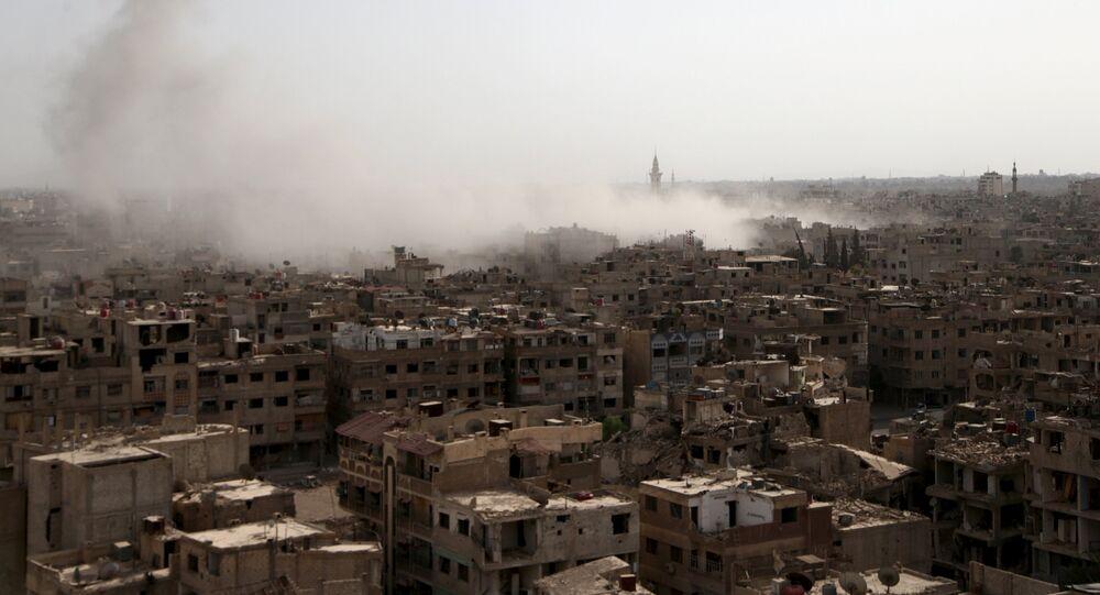 Ciudad de Duma en la provincia de Damasco, Siria