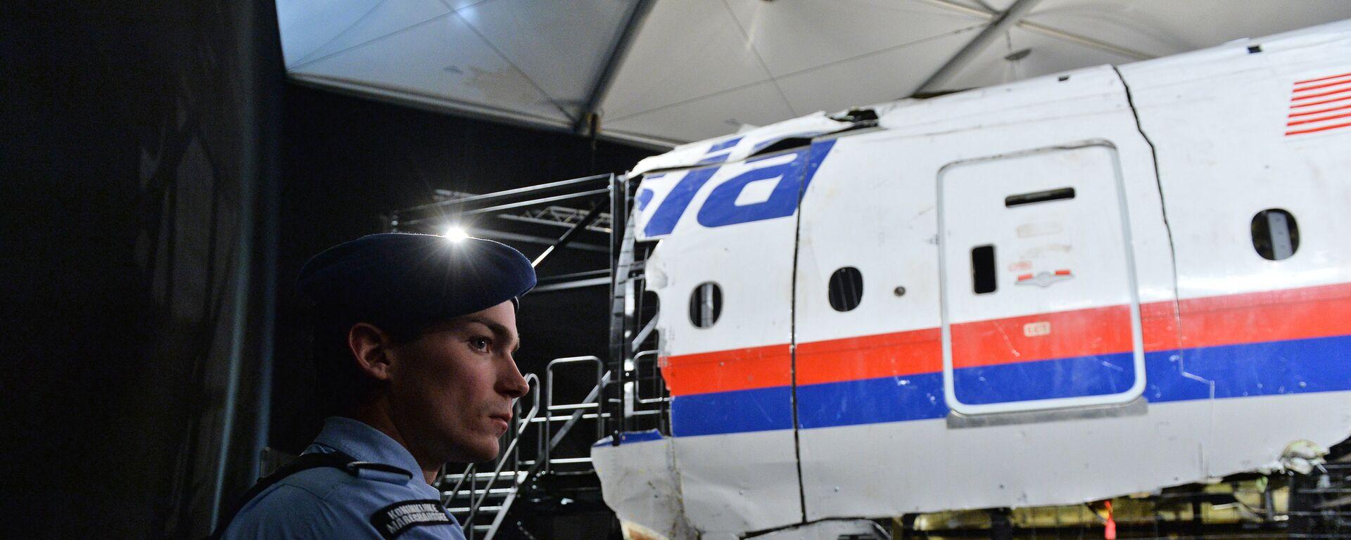 Представление доклада об обстоятельствах крушения лайнера Boeing 777 Malaysia Airlines (рейс MH17) на Востоке Украины 17 июля 2014 года на военной базе Гилзе-Рейен в Нидерландах - Sputnik Mundo, 1920, 28.07.2021