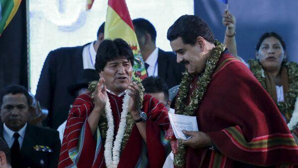 Presidente de Bolivia, Evo Morales, y presidente de Venezuela, Nicolás Maduro - Sputnik Mundo