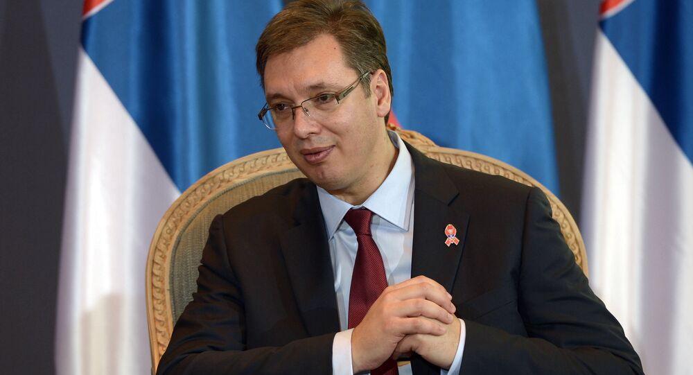 El presidente de Serbia Aleksandar Vucic (archivo)