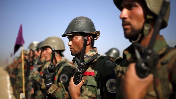 Soldados afganos (archivo) - Sputnik Mundo