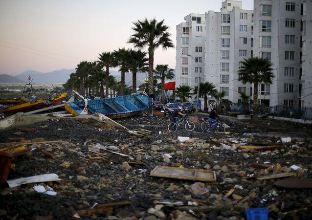 Consecuencias del terremoto en la ciudad de Coquimbo en Chile