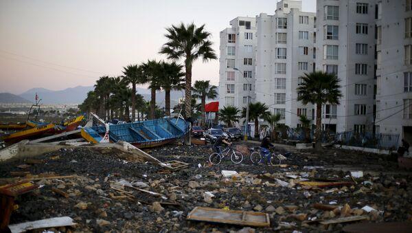 Consecuencias del terremoto en la ciudad de Coquimbo en Chile - Sputnik Mundo