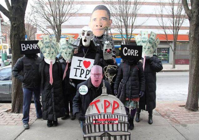Manifestación contra el TPP