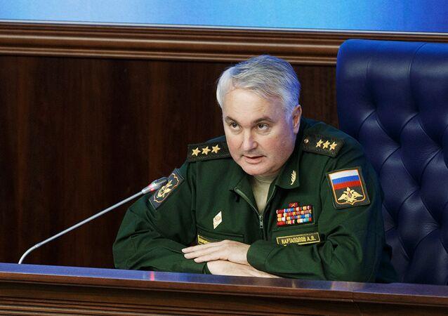 Coronel general Andréi Kartapólov, jefe de la Dirección General de Operaciones del Estado Mayor de Rusia