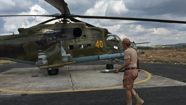 Helicópteros de las Fuerzas Aéreas de Rusia en Siria (archivo) - Sputnik Mundo