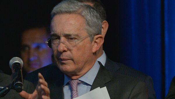 Álvaro Uribe, expresidente de Colombia - Sputnik Mundo