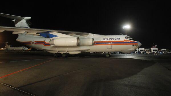 El avión del Ministerio ruso de Emergencias - Sputnik Mundo