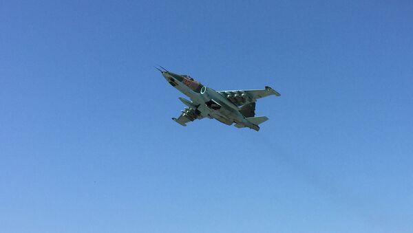 Un avión ruso Su-25 en Siria (archivo) - Sputnik Mundo