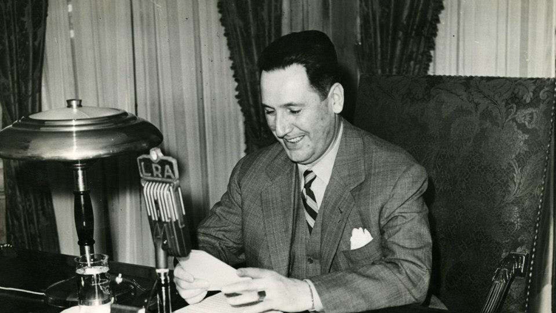 El Presidente Juan Domingo Perón hablando por LRA Radio Nacional - Sputnik Mundo, 1920, 16.10.2020