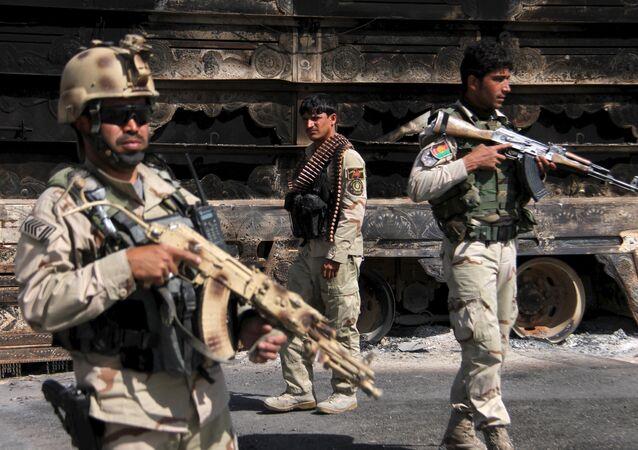 Militares de Afganistán (archivo)