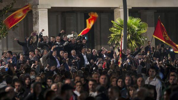 Manifestaciones de protesta en Podgorica, capital de Montenegro - Sputnik Mundo