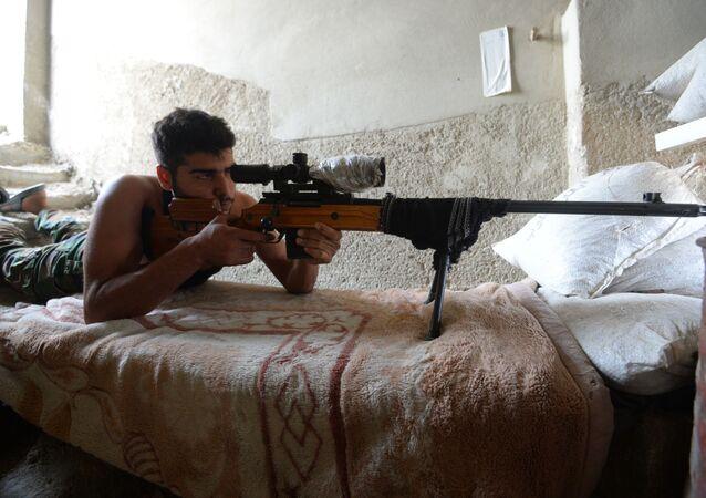Combates del Ejército sirio en Djobar, suburbio  de Damasco
