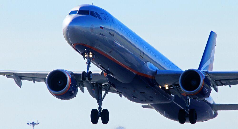 Avión de la compañía aérea rusa Aeroflot