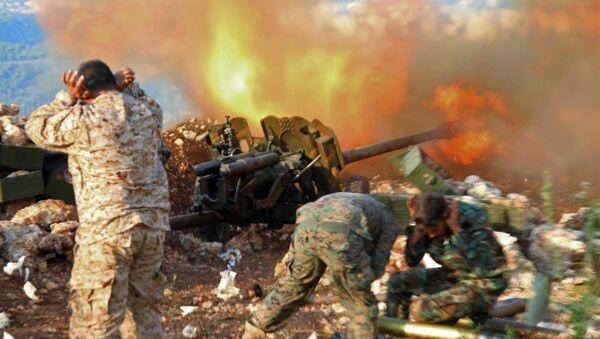Позиция сирийской армии в районе поселения Сальма - Sputnik Mundo