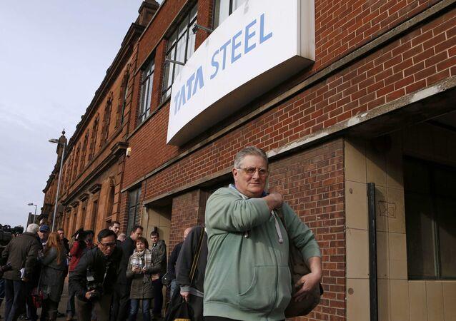 Empleados de Tata Steel en Escocia