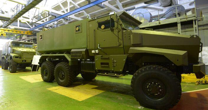 El vehículo de combate sobre ruedas Ural-VV