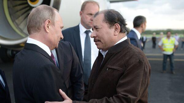 Presidente de Rusia, Vladímir Putin, y presidente de Nicaragua, Daniel Ortega (archivo) - Sputnik Mundo